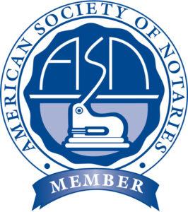 Mobile Notary Pasadena, CA - American Society of Notaries Logo