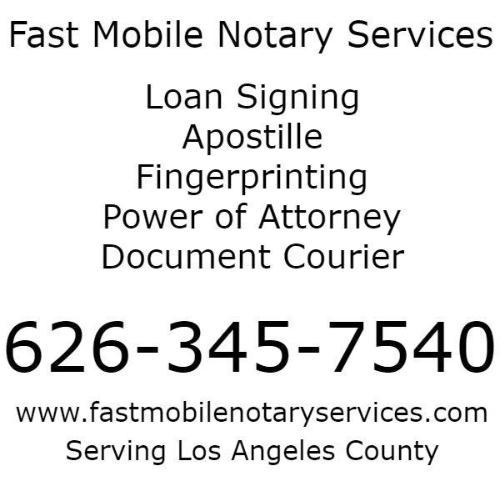 Pasadena Mobile Notary | 626-345-7540
